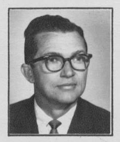 Black and white yearbook photograph of Principal Boyd W. Collins.